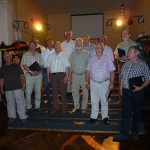 Singen des Männerchores zur Frühjahrsausfahrt