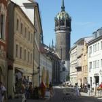 Lutherstadt Wittenberg Blick zur Schlosskirche