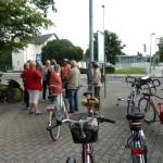 Sammeln zur Fahrradtour