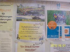 """Eröffnung der Saison 2016 mit einem Konzert unter dem """"Schmetterling"""""""
